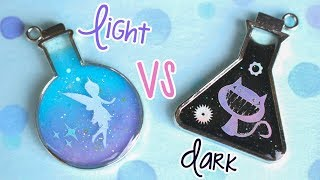 Light vs Dark UV Resin Charm