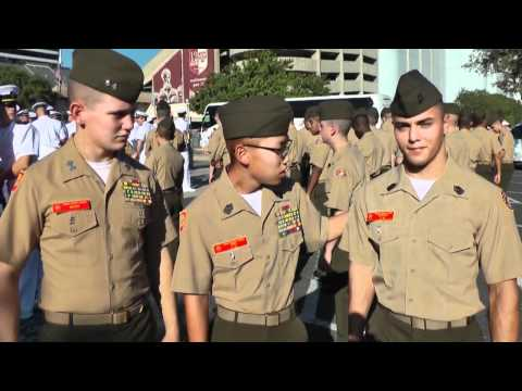 Marine Military Academy Cadets Visit Texas A&M