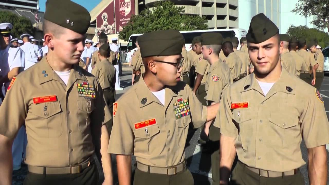 Marine Military Academy Cadets Visit Texas A&M - YouTube