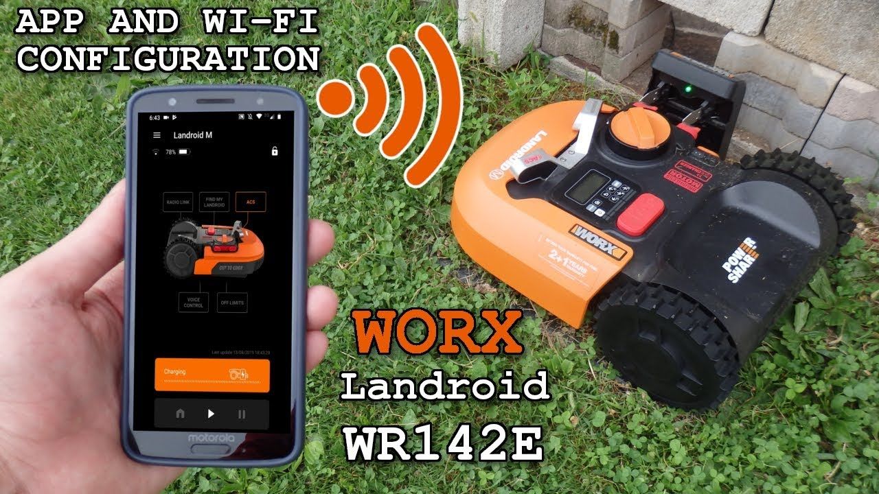 Worx Landroid Wr142e App And Wi Fi Configuration Youtube