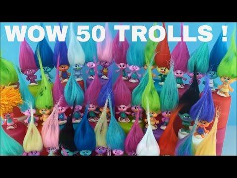 Dreamworks Trolls Toys Series 1 Series 2 Blind Bags Capsules 50 Surprises Opening Fun some Names
