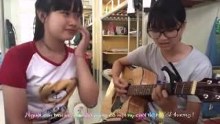 [2 nữ sinh dễ thương] Hao Sang Ni Lyrics cover by Sinh viên