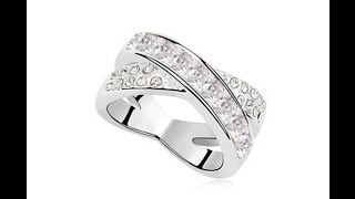 100% Austria Crystal Platinum Plated Ring