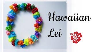 DIY Hawaiian Lei using tissues || Handmade Necklace