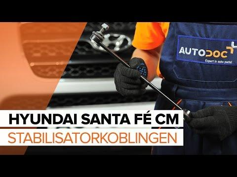 Sådan udskifter du stabilisatorkoblingen på  HYUNDAI SANTA FÉ CM [GUIDE]
