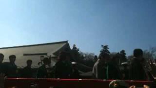 2011年2月3日午後1時10分、この日2回目の節分会福豆まき会に参加する、...