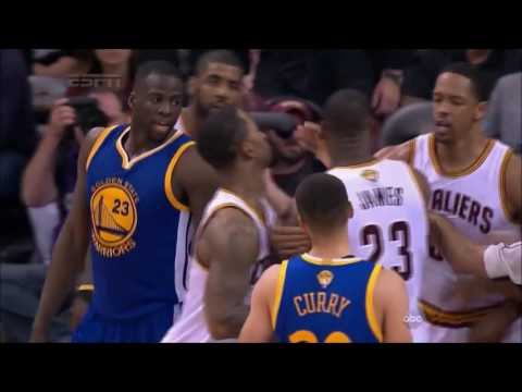 LeBron James Steps over Draymond Green and they nearly FIGHT (2016) from YouTube · Duration:  1 minutes 6 seconds