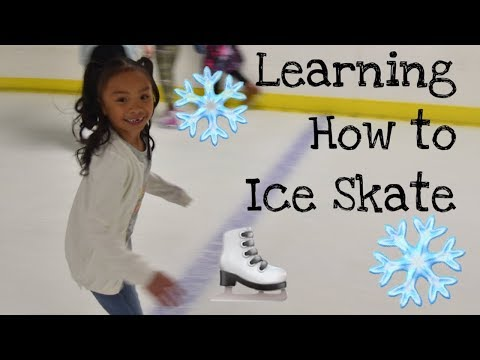 Learning How To Ice Skate!