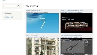 video gallery on drupal 7 views - panels - embed youtube-grap title-link thumbnial