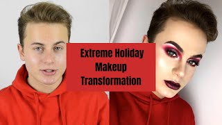 EXTREME Holiday Makeup Transformation/Tutorial | STYSIO