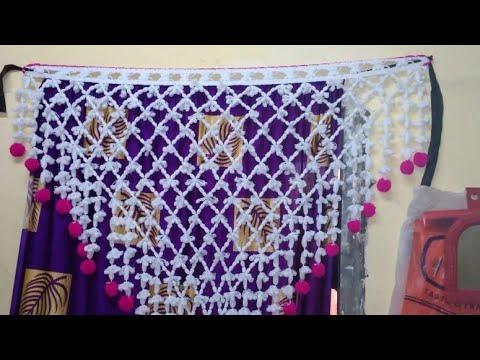 Gate Parda Design Home Decoration Hand Craft Crochet Door Hanging