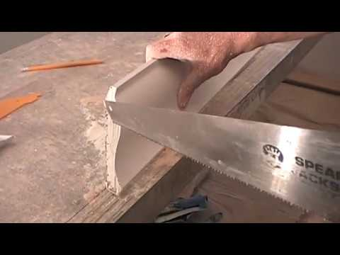 Cornice + Coving Ceiling Interior Exterior Angles + Miter Cuts
