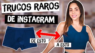 PROBANDO TRUCOS RAROS DE INSTAGRAM - tips engañosos?| What The Chic