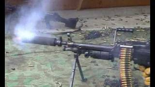 SAW 249 / Minimi Silencer test - 240 rounds in a single burst