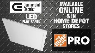 Commercial Electric LED Flat Panel Technology - The Home Depot