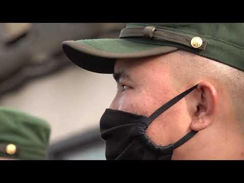 Солдаты-срочники отправились из учебного центра ракетных войск по воинским частям
