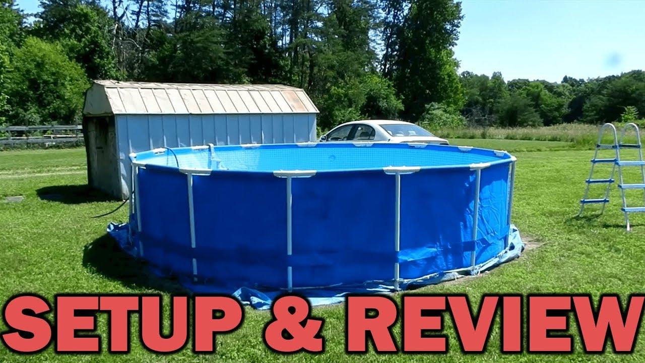 Intex 15 X 48 Metal Frame Pool Set Amp Review Youtube