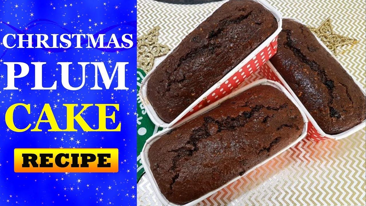 Easy Quick Christmas Plum Cake Recipe No Alchohol Soak