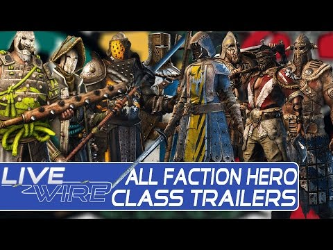 For Honor All Faction Classes Trailers – Knight, Viking, Samurai Faction Class Trailers in For Honor
