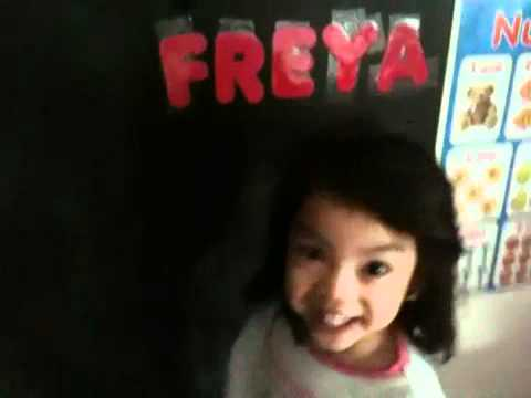 Freya can spell her name