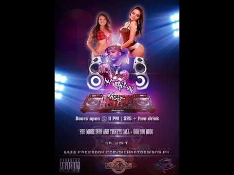 Club Event Flyer Design - photoshop cs6 - YouTube