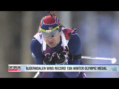 Bjoerndalen sets record with 13th Winter Games medal