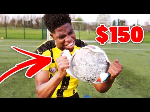 BREAKING INSIDE a 150$ FOOTBALL!! - is it REALLY worth it??