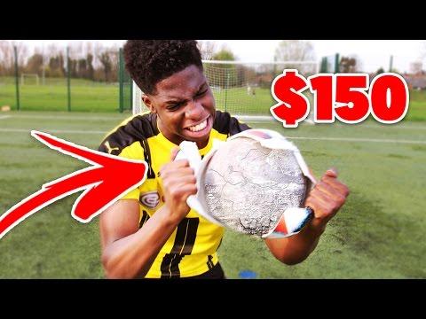 BREAKING INSIDE a 150$ FOOTBALL!! - is it REALLY worth it??