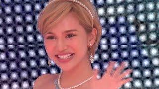 2014年7月24日 渋谷109ステージ タレントの水沢アリーさんが「エビアン ...