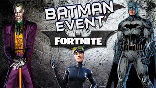 FORTNITE X BATMAN EVENT ( NEW GOTHAM CITY MAP LOCATION ) AMAZING BATMAN AND CATWOMAN SKINS