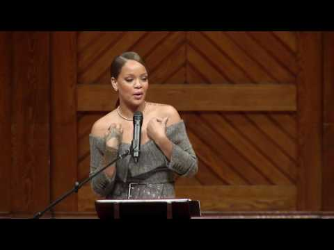 Rihanna named Harvard University's Humanitarian of the Year