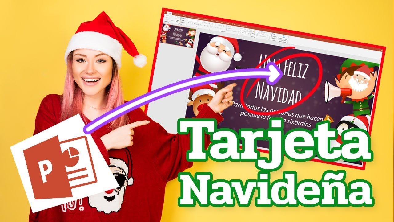 Turorial tarjeta de navidad powerpoint youtube - Como hacer targetas de navidad ...