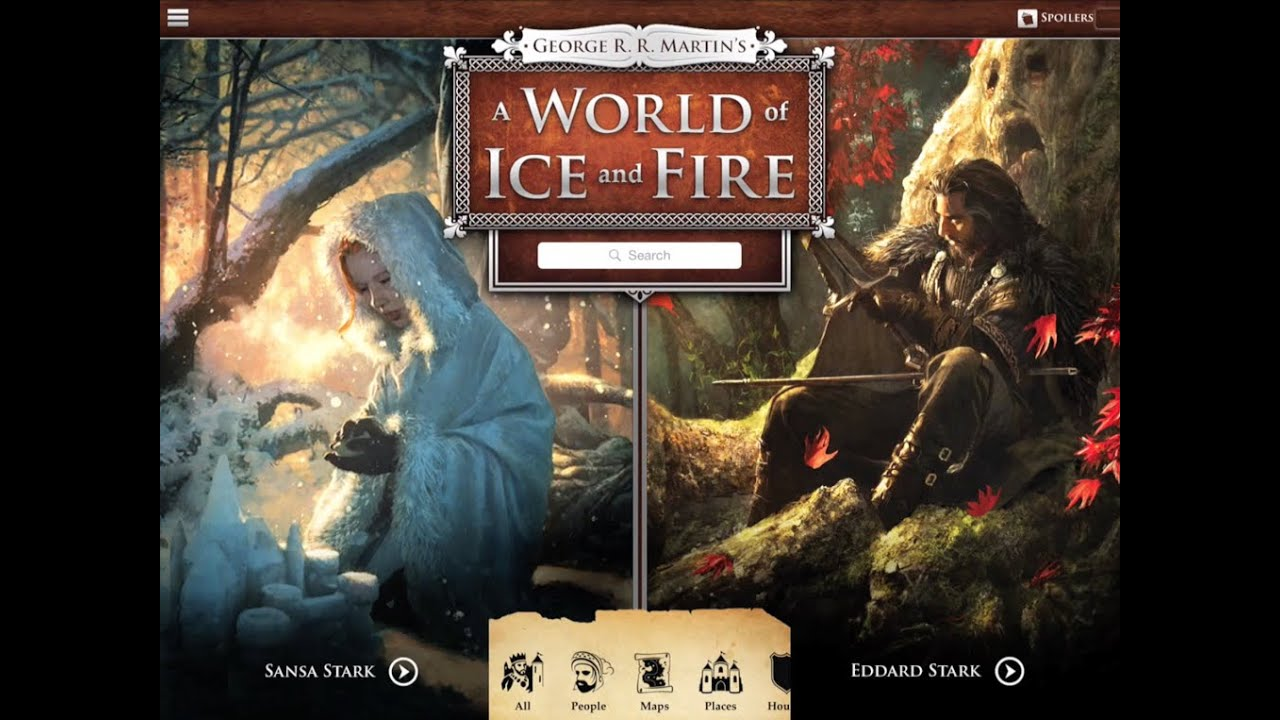 Official George R. R. Martin A WORLD OF ICE AND FIRE App - YouTube