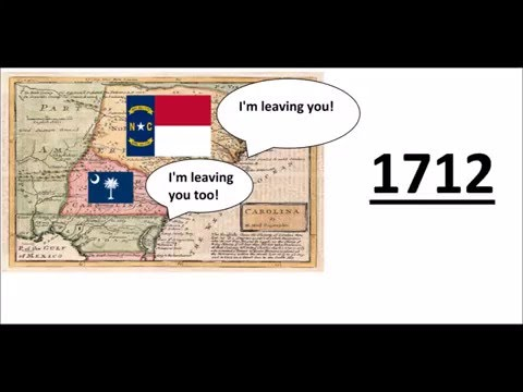 Why did Carolina Split into North and South Carolina?