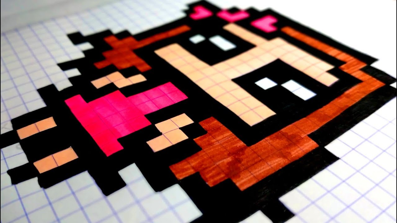 How To Draw Easy A Kawaii Girl In Pixel Art Asmr