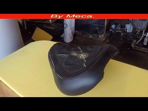Tapiceria Para aficionados COMO TAPIZAR asiento de moto facil.