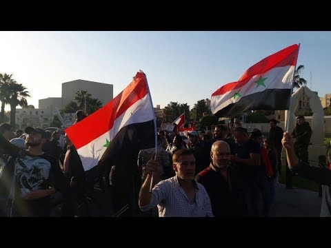 The population of Raqqa went to protests against the US and SDF