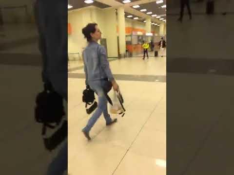 Прогулка от терминала D к терминалу F. Аэропорт Шереметьево
