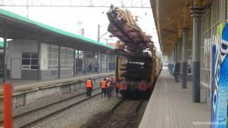 Замена рельсов на Курском вокзале
