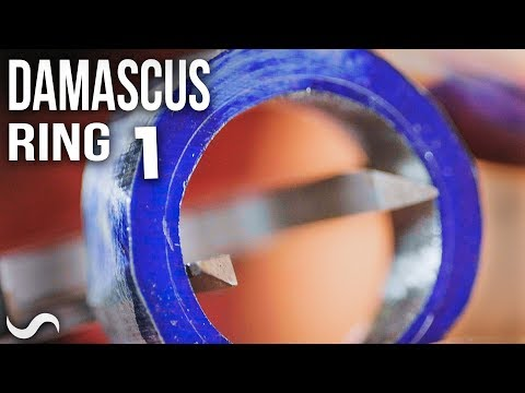 MAKING A DAMASCUS RING!!! Part 1