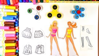 coloring skirts jackets and boots coloring pages for barbies clothing with fidget spinners