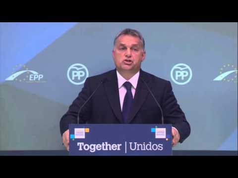 Hungarian PM Viktor Orban's full speech at EPP, Geman Chancellor Angela Merkel not claping