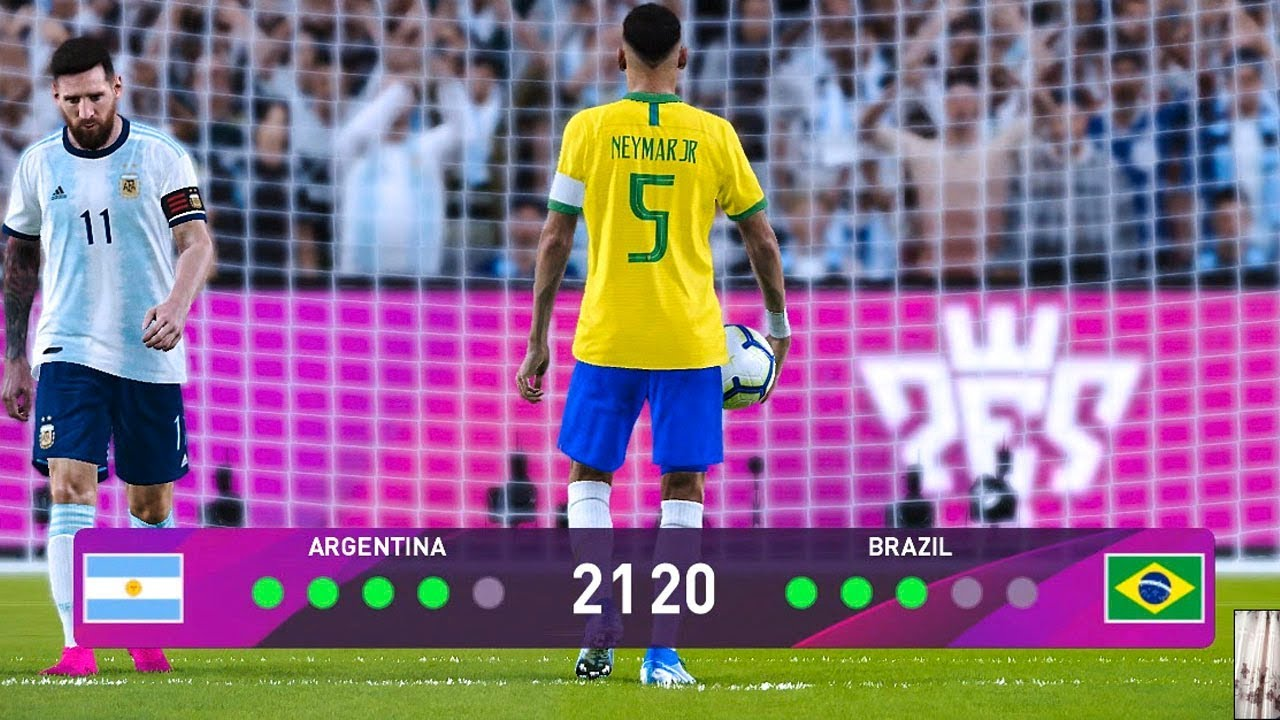 Brazil 2020 World Cup.Pes 2020 Longest Penalty Shootout Brazil Vs Argentina Final Fifa World Cup 2022 Qatar