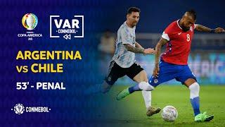Copa América   Revisión VAR   Argentina vs Chile   Minuto 53