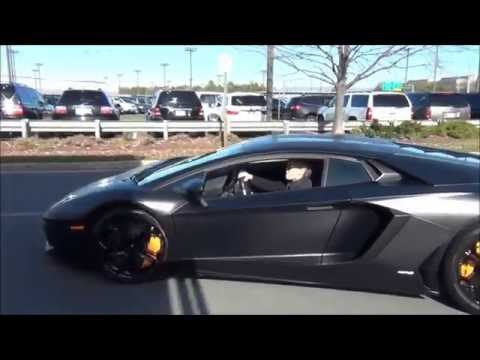 Hot Girl !!! Driving Nero Nemesis Lamborghini LP700-4 Aventador !!!