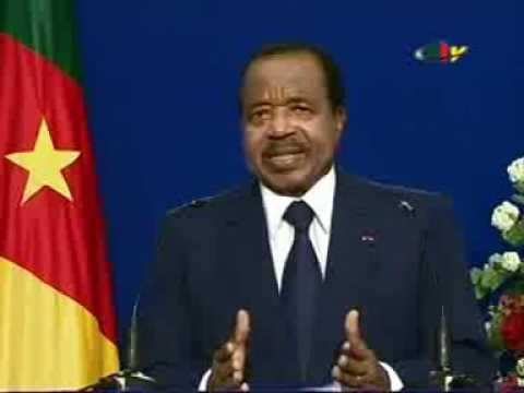 Message of the head of the state of Cameroon, end of of year