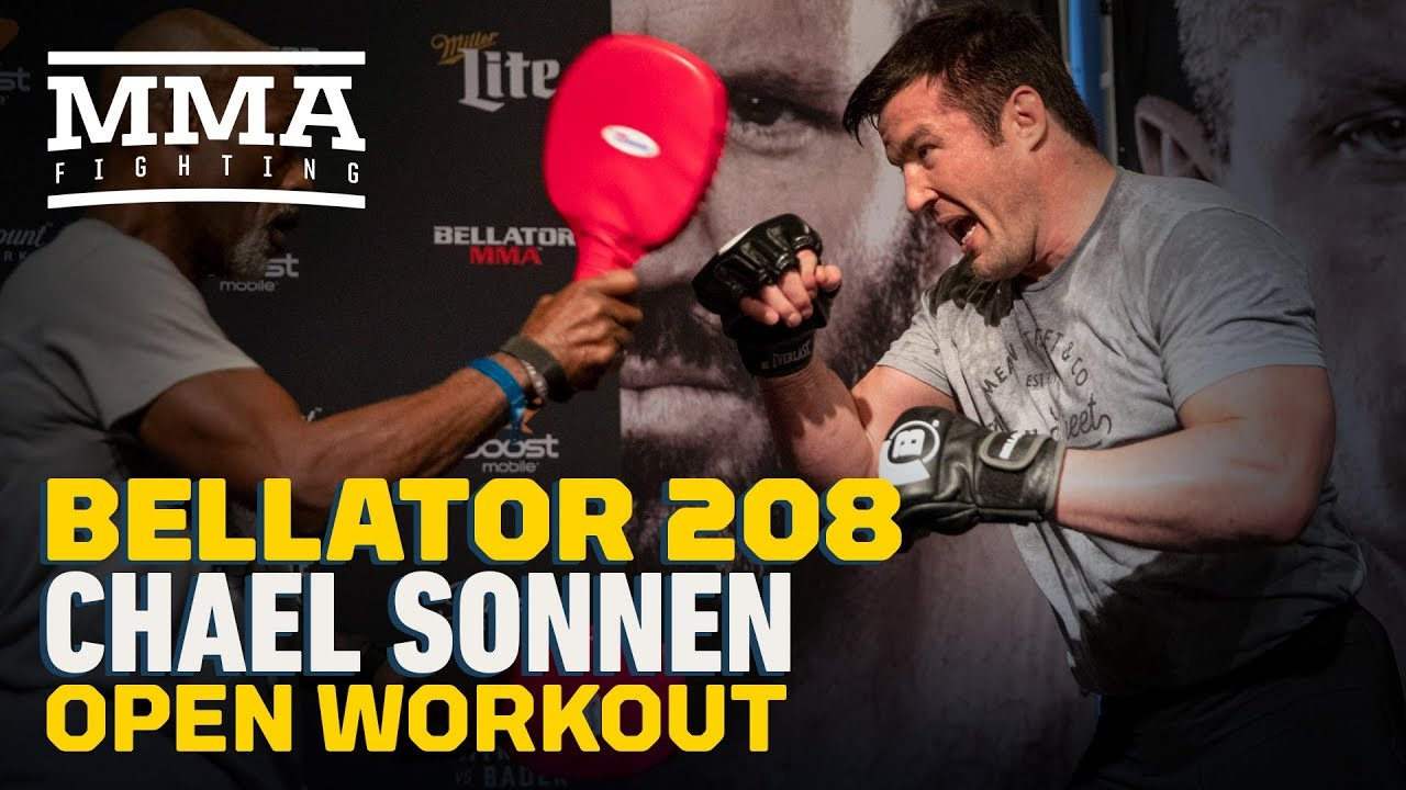 Chael Sonnen Bellator 208 Workout Highlights - MMA Fighting