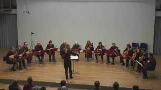 Das Gitarren- und Mandolinenorchester Bayreuth unter Leitung von Da...