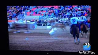 Rick Fraser chuckwagon crash at Calgary Stampede