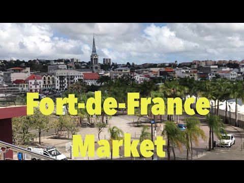 Martinique เมืองหลวง#ตลาด แหล่งช็อปของนักท่องเที่ยว#Fort -de -France Market # Koy Life in Martinique
